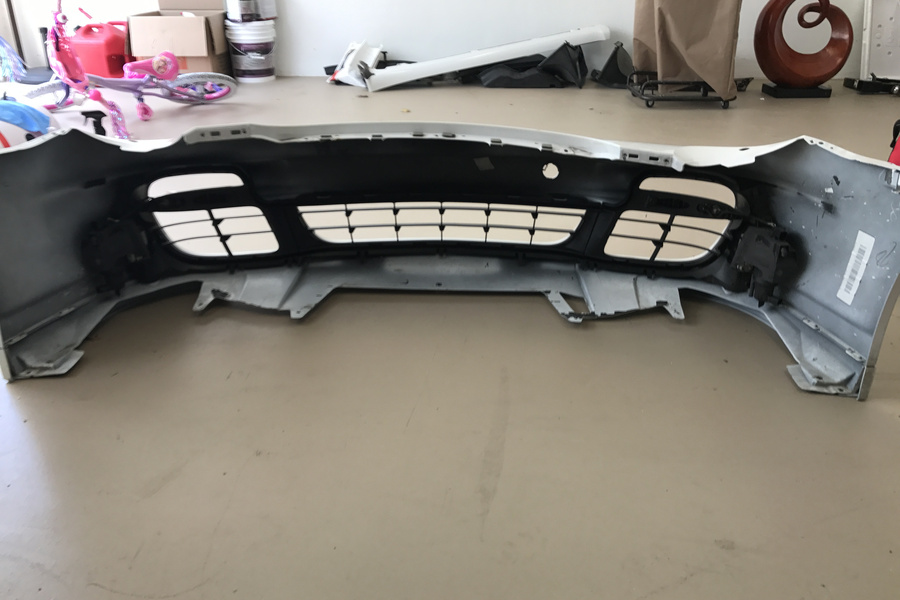 2009 997 turbo front bumper, white, includes turn signals and fog lights  - #2