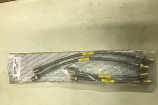 Stainless steel braided brake hose kit by Precise Lines 9955223105,BE56R,447501 - Primary photo
