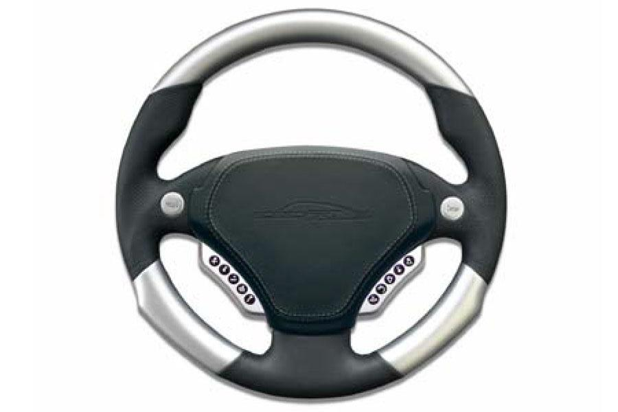 speedART multifunction steering wheel 340mm, leather/aluminium P87 910 220 020 - #1