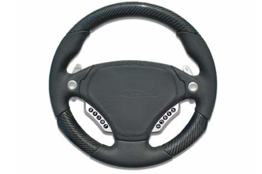 speedART F1 multifunction steering wheel 340mm, leather/carbon P87 910 230 040 - #1