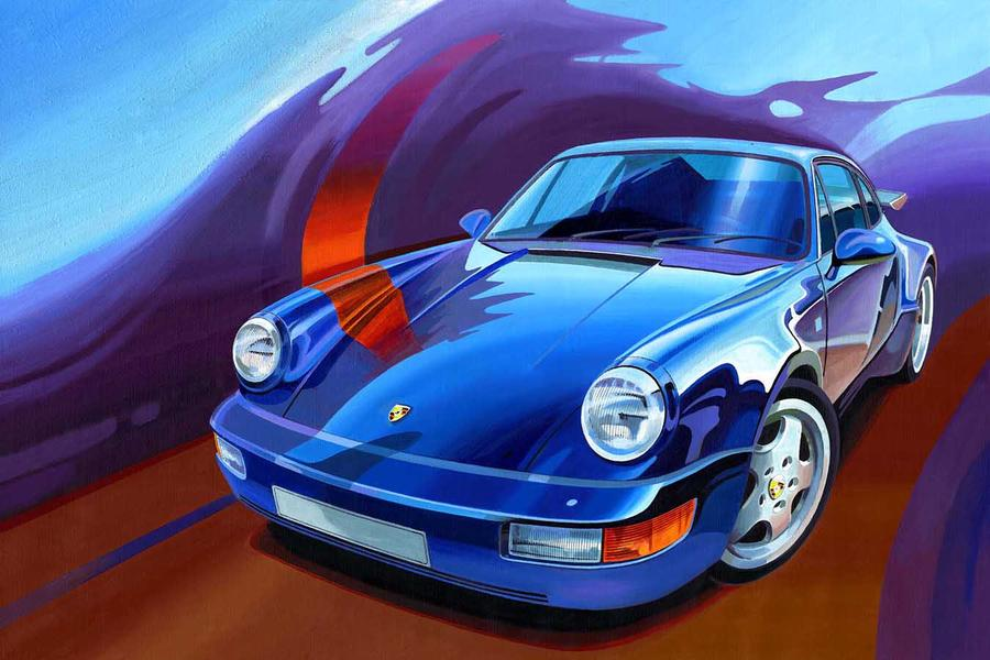 964 Turbo picture, canvas giclee  - #1