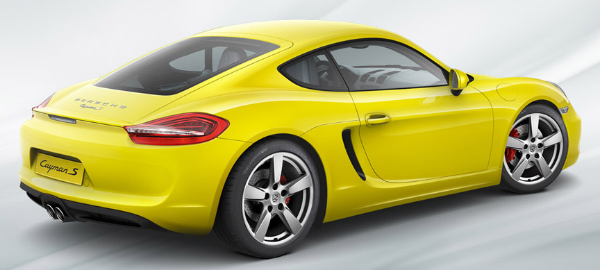 Porsche Cayman 981, yellow