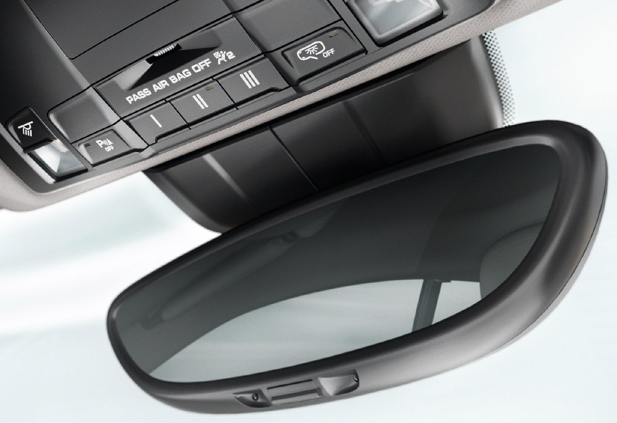 Porsche Cayman 981 interior mirror, garage door opener memory