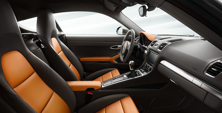 Porsche Cayman 981 two-tone interior