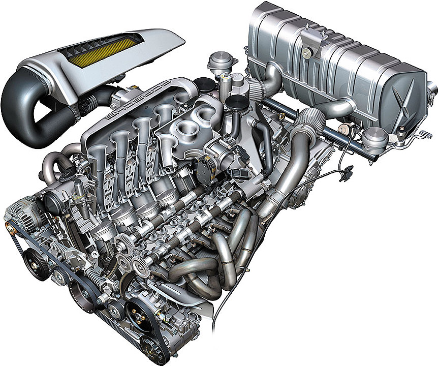 Porsche Carrera GT engine