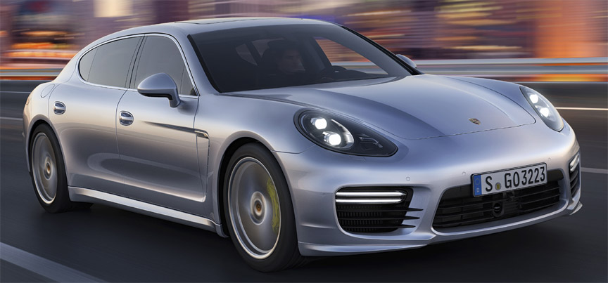 Porsche Panamera Turbo Executive 970 LED headlamps