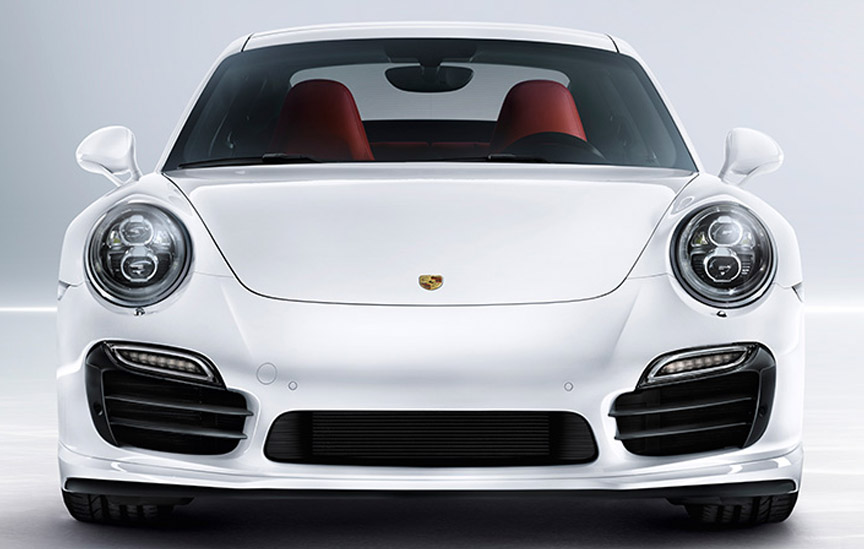 turbo s left and right openings have slightly different grilles than the turbo porsche - 2013 Porsche 911 Turbo S