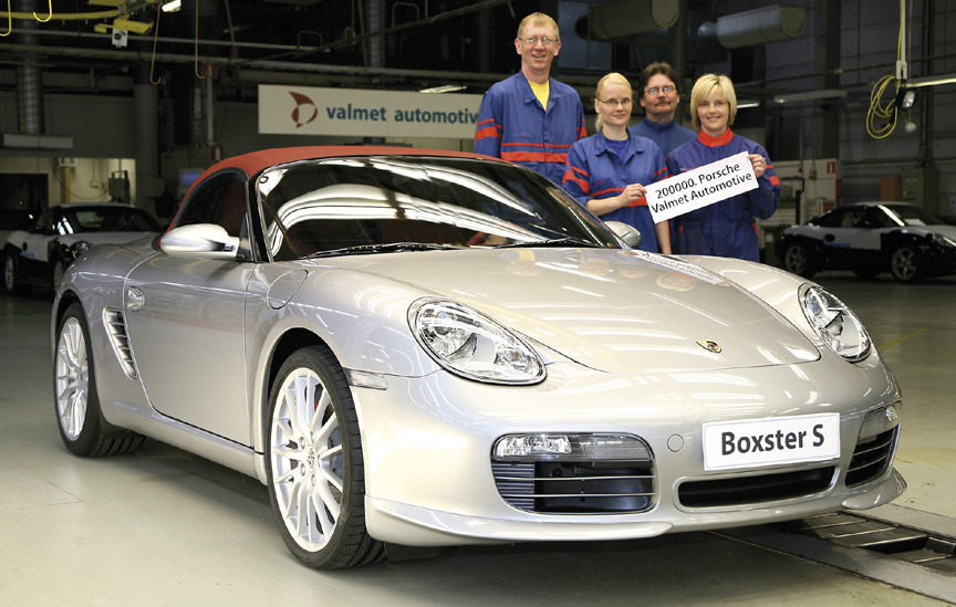 200.000th Porsche built by Valmet Automotive