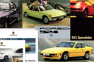 Porsche catalogues and broshures