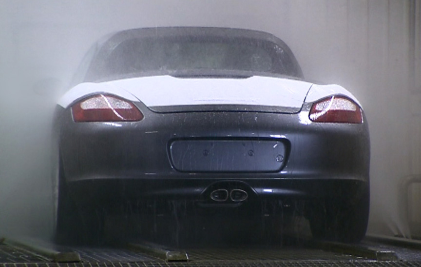 Valmet Porsche Boxster factory, water-tightness tested