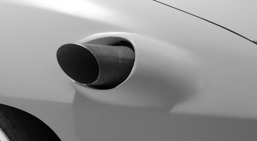 Porsche 924 Nardo exhaust pipe