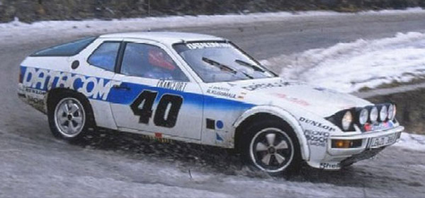 Porsche 924 Barth-Kussmaul at the 1979 Monte Carlo rallye