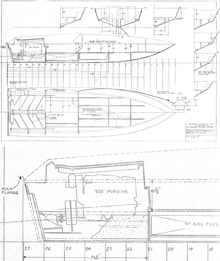 Kineo 27 Speed Boat Build Porsche Engine Diagrams 1990 April 19 Drawning By Wolfgang Schneider Head Designer At Marine Concepts Augusto Villalon