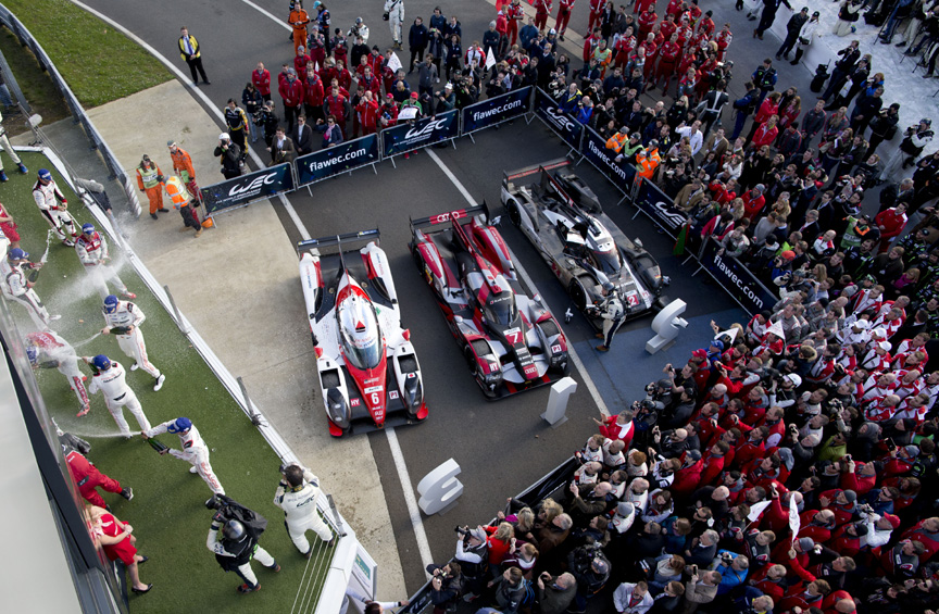 2016 Porsche 919 hybrid, April 17, Silverstone initial podium with Audi as the winner