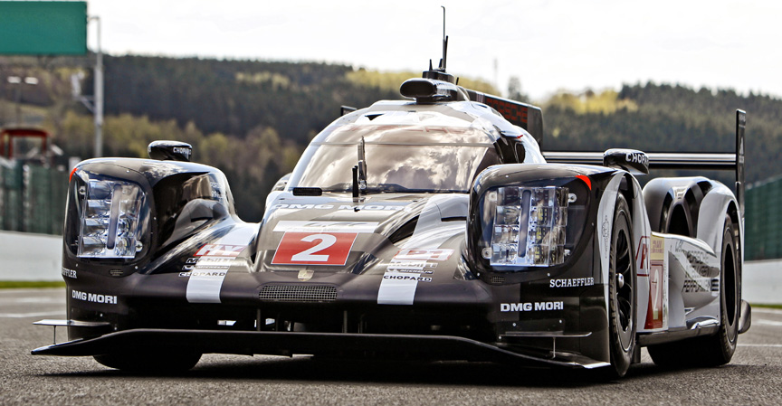 2016 Porsche 919 hybrid, front wheel wells of the LM-package are more boxy