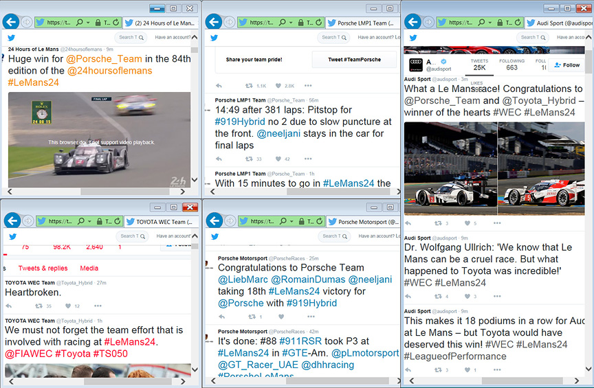 2016 Le Mans Twitter emotions after the finish