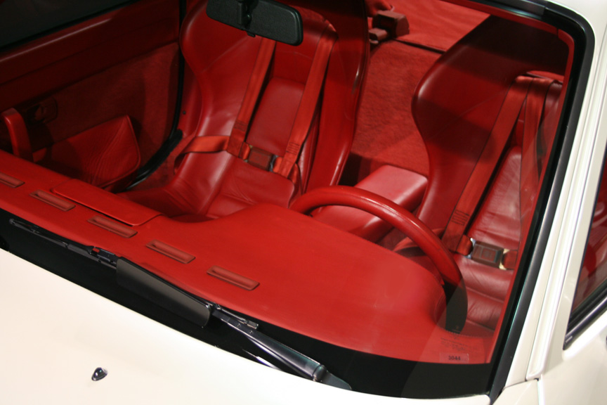 Porsche 924 Carrera GT prototype red interior