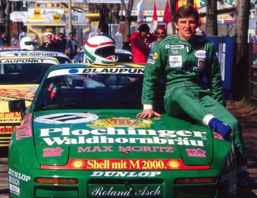 Roland Asch with his 1987 944 Turbo Cup Germany winning car