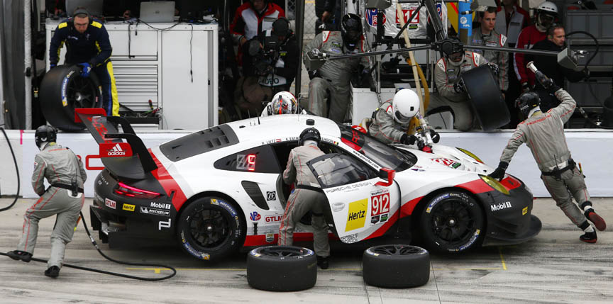 2017 Daytona 24 Porsche 911 991 RSR in the pits