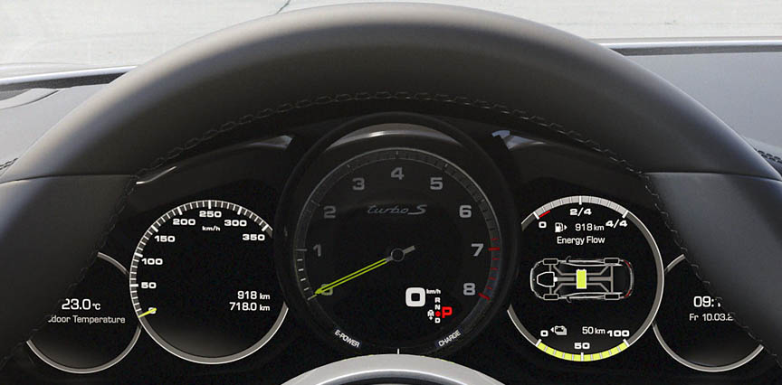 Panamera Turbo S e-hybrid instrument panel