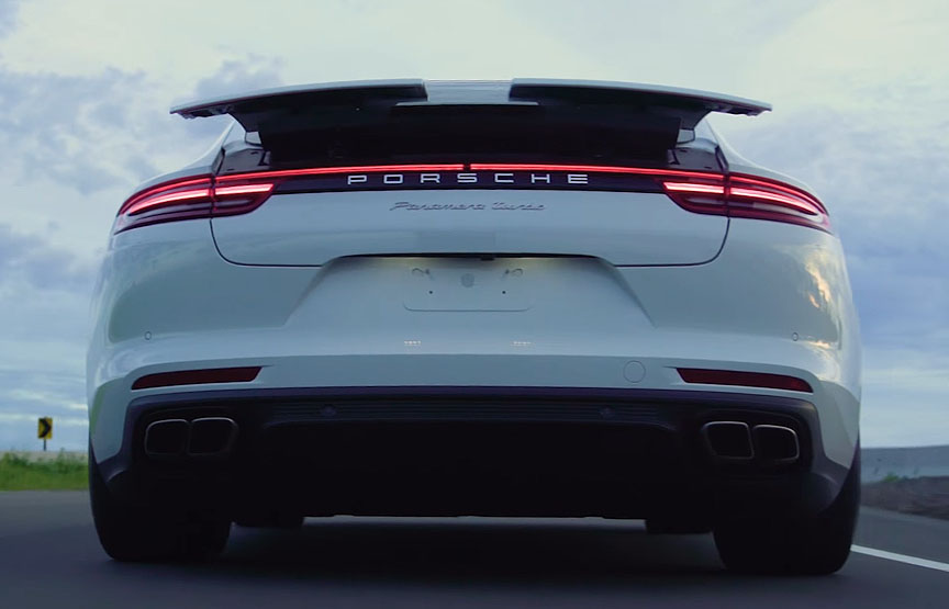 2017 Panamera Turbo 971 spoiler moving