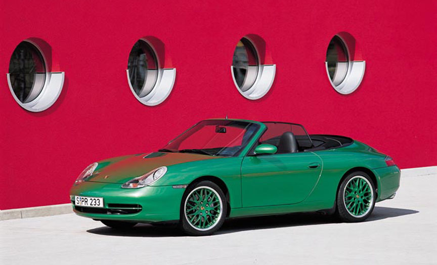 Porsche 911 996 Carrera Cabrio, green metallic