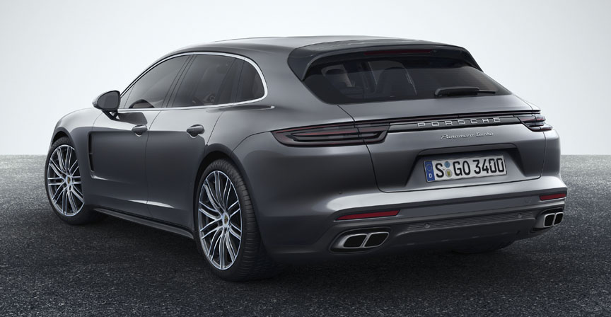 Panamera Sport Turismo 2017 2018 rear quarter view