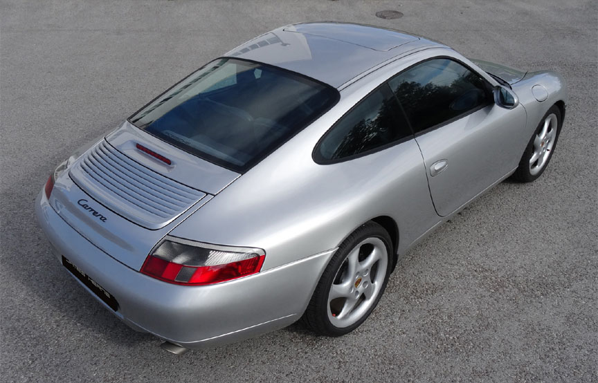 Porsche 911 996 Carrera 3.4 top corner view