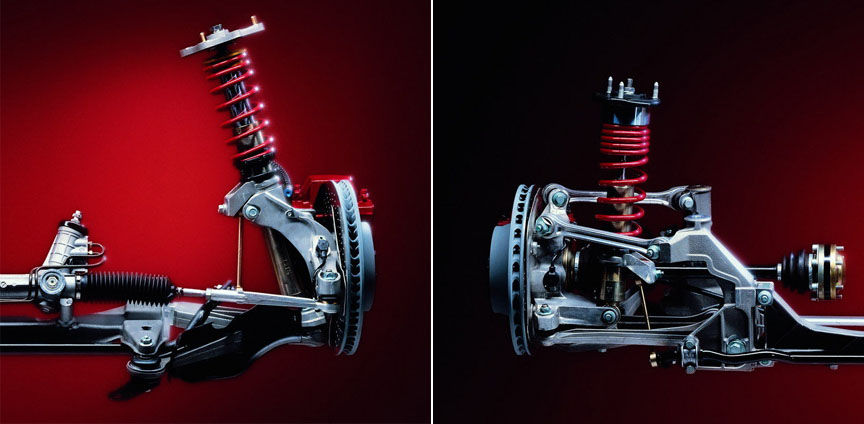 Porsche 911 996.1 GT3 axles, adjustable suspension