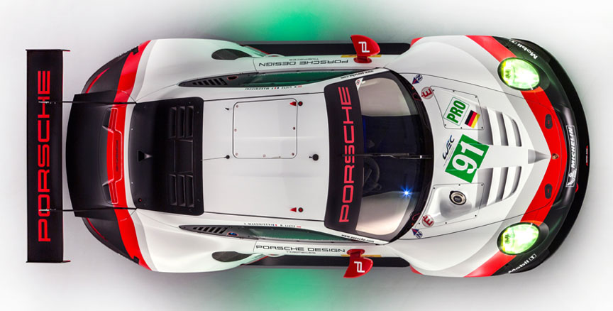 2017 Porsche 911 991.2 RSR top view, roof hatch
