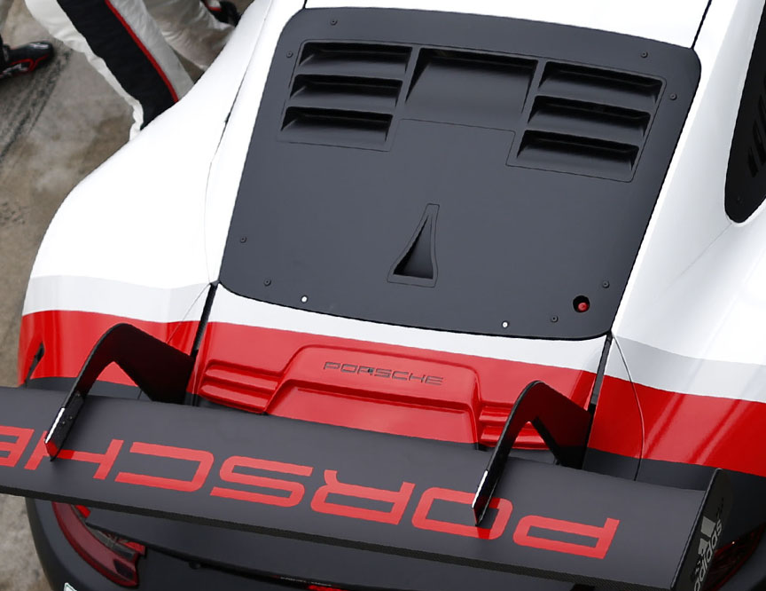 2017 Porsche 911 991.2 RSR engine cover