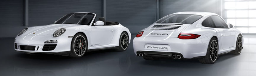 Porsche 911 997 Carrera GTS, coupe and cabriolet