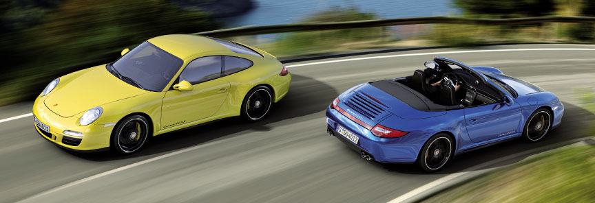 Porsche 911 997 Carrera 4 GTS Coupe and Cabriolet