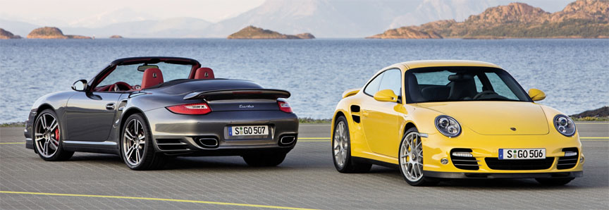 Porsche 911 997.2 Turbo 3.8 coupe and cabriolet