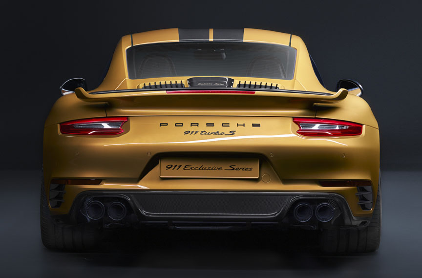 Porsche 911 991.2 Turbo S Exclusive Series exhaust system, rear valance
