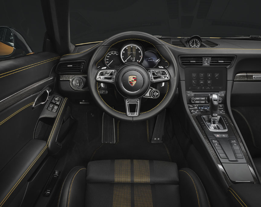 Porsche 911 991.2 Turbo S Exclusive Series dasboard, seat