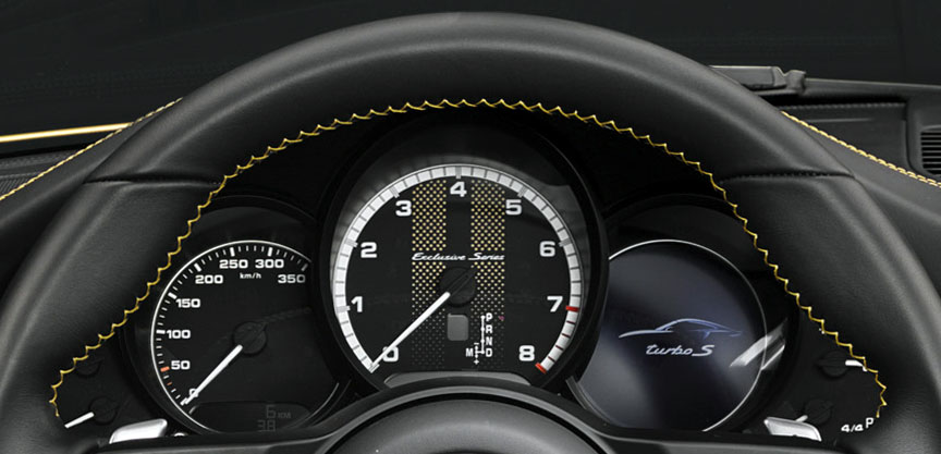 Porsche 911 991.2 Turbo S Exclusive Series instrument cluster