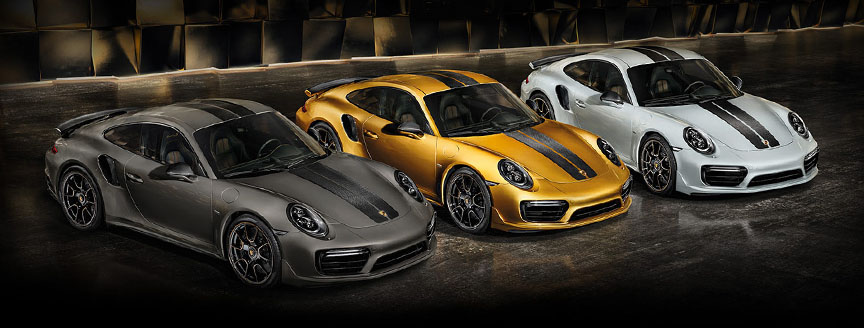 Porsche 911 991 Turbo S Exclusive Series different colors