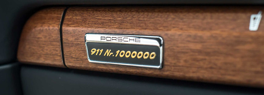 Porsche 911 1.000.000th plaque