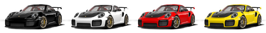 Porsche 911 991 GT2 RS standard colors