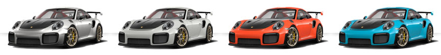 Porsche 911 991 GT2 RS optional colors