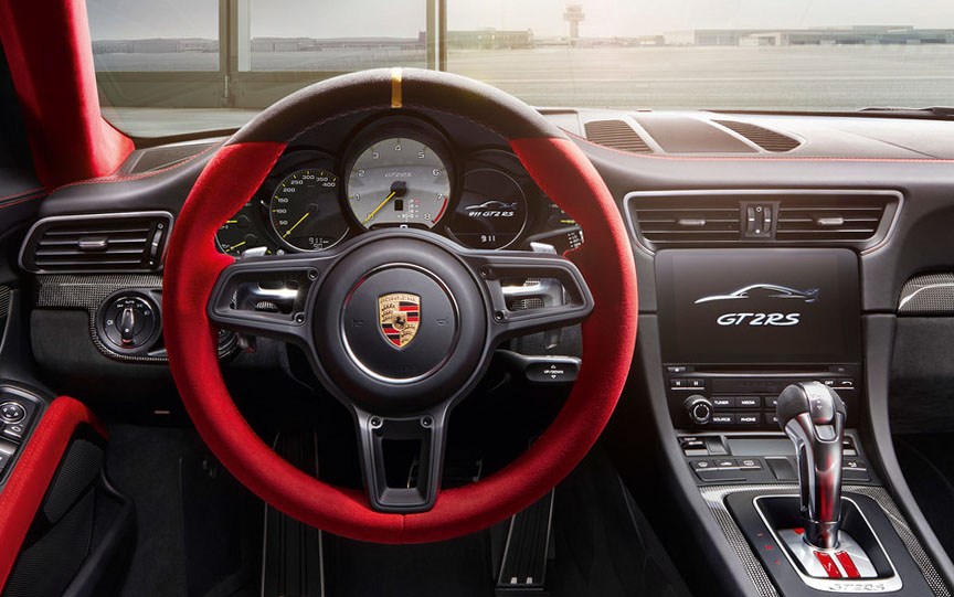 Porsche 911 991 GT2 RS dashboard, steering wheel