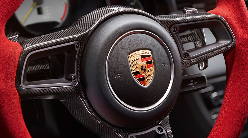 Porsche 911 991 GT2 RS Weissach steering wheel