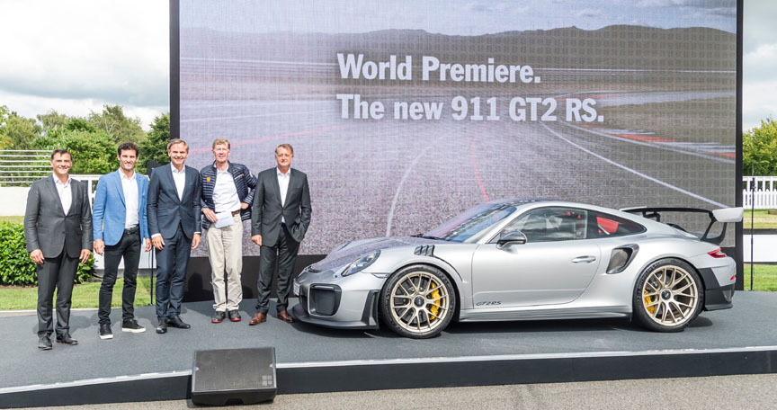 Porsche 911 991 GT2 RS premiere in Goodwood