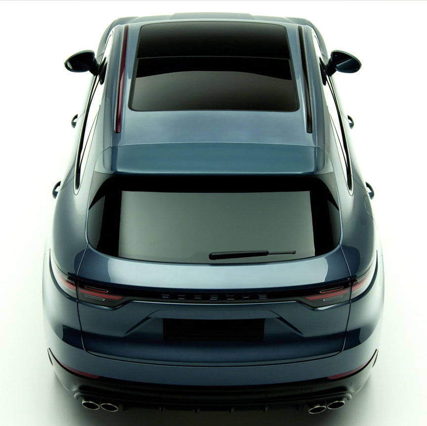 2018 Porsche Cayenne rear top view