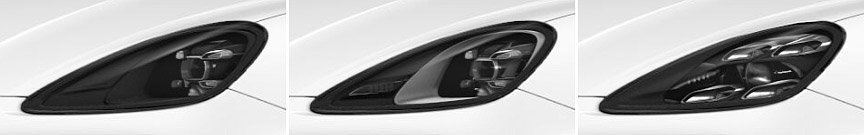 2018 Porsche Cayenne LED headlamp versions, basic, PDLS+, Matrix