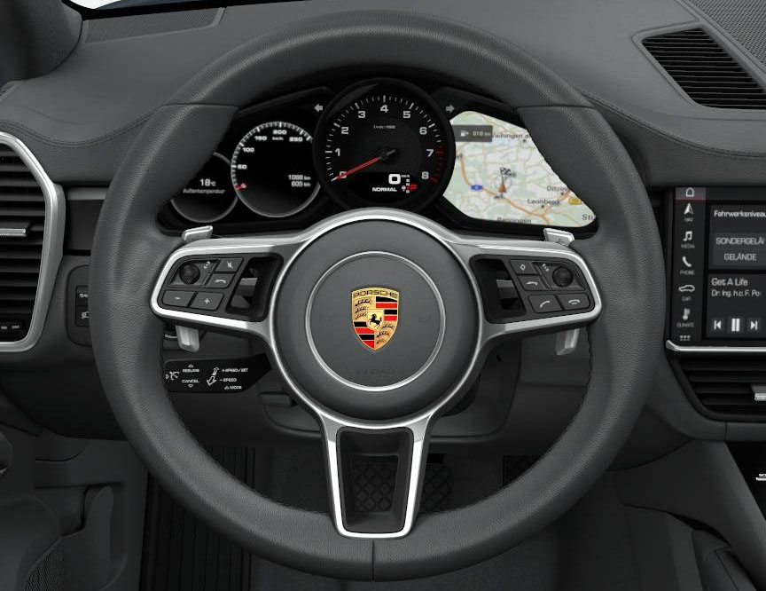 Cayenne 2018 steering wheel, instruments