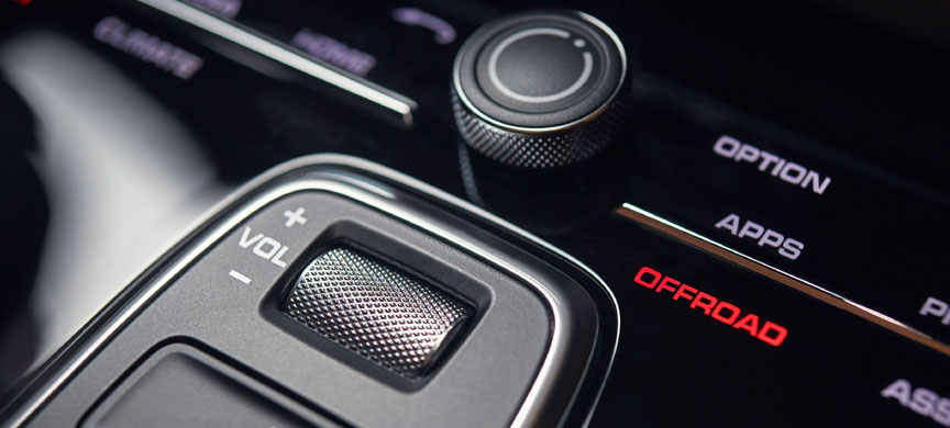 2018 Porsche Cayenne volume button