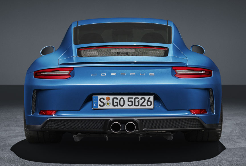 Porsche 911 991 GT3 Touring rear view