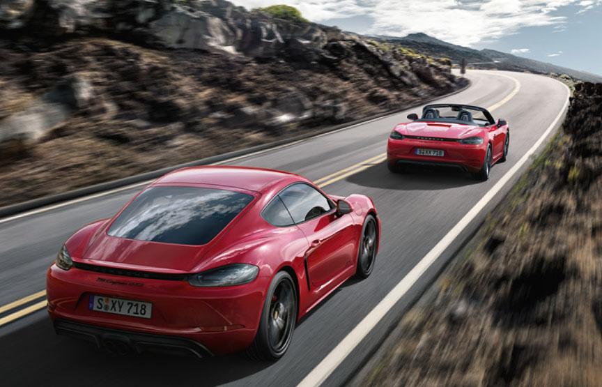 2018 Porsche 718 GTS Cayman and Boxster